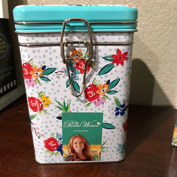 Pioneer Woman Lock Top Tin Party Floral